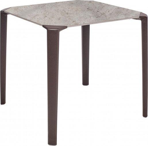 Mesa Ezpeleta apilable Moka Marrones concrete Polipropileno 80x80-one