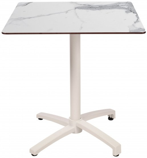 Mesa Ezpeleta abatible white Blancos white marble Aluminio lacado 60x70
