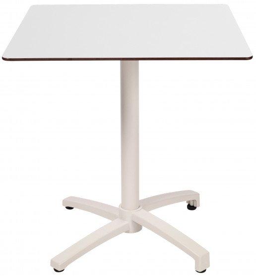 Mesa Ezpeleta abatible white Blancos white Aluminio lacado 60x70