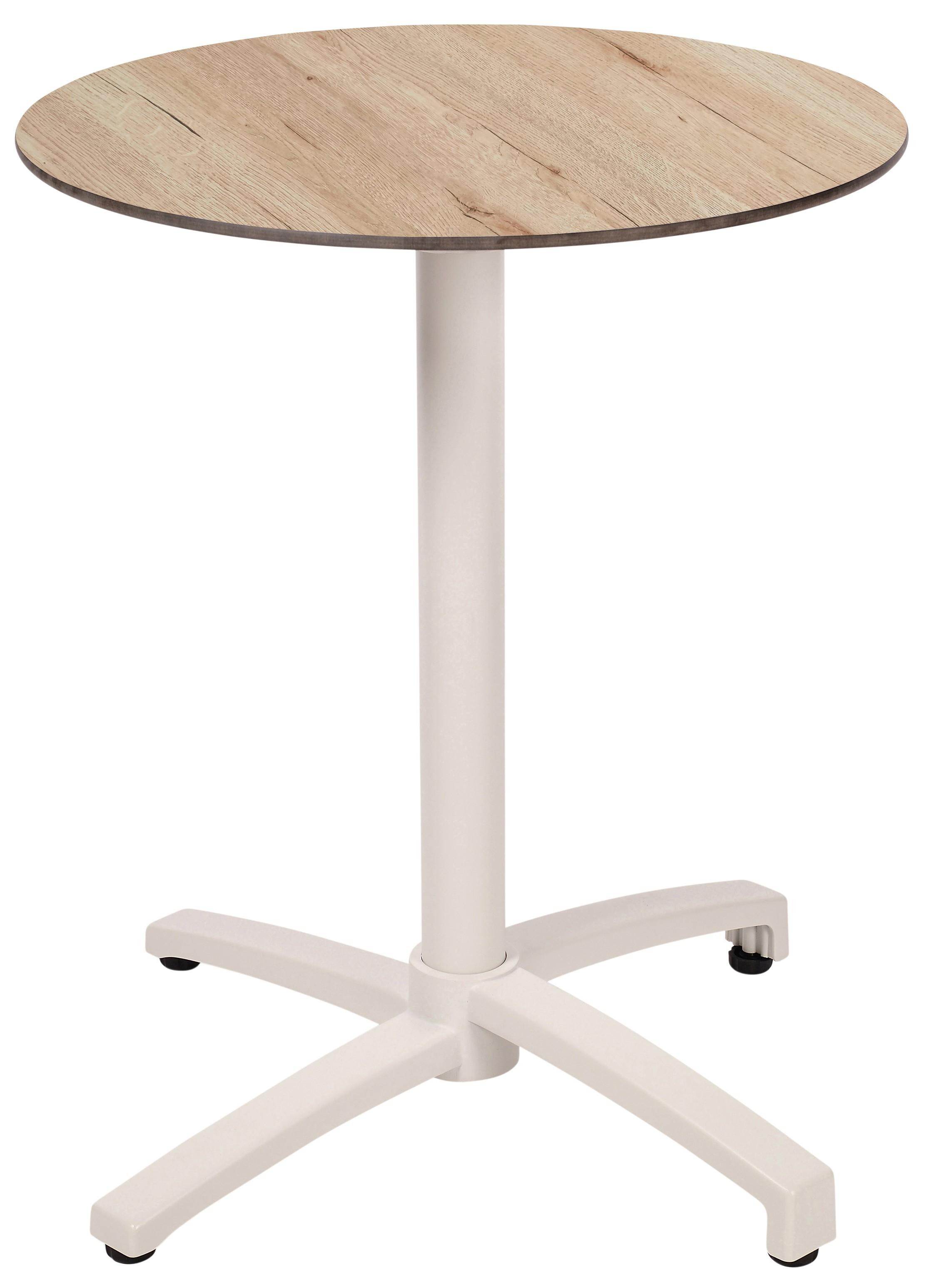 Mesa Ezpeleta abatible white Blancos oak Aluminio lacado 60