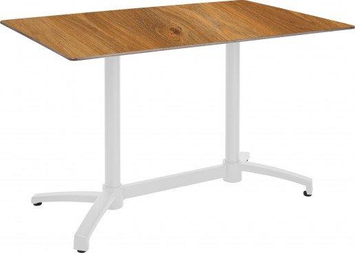 Mesa Ezpeleta abatible white Blancos dark oak Aluminio lacado 120x80
