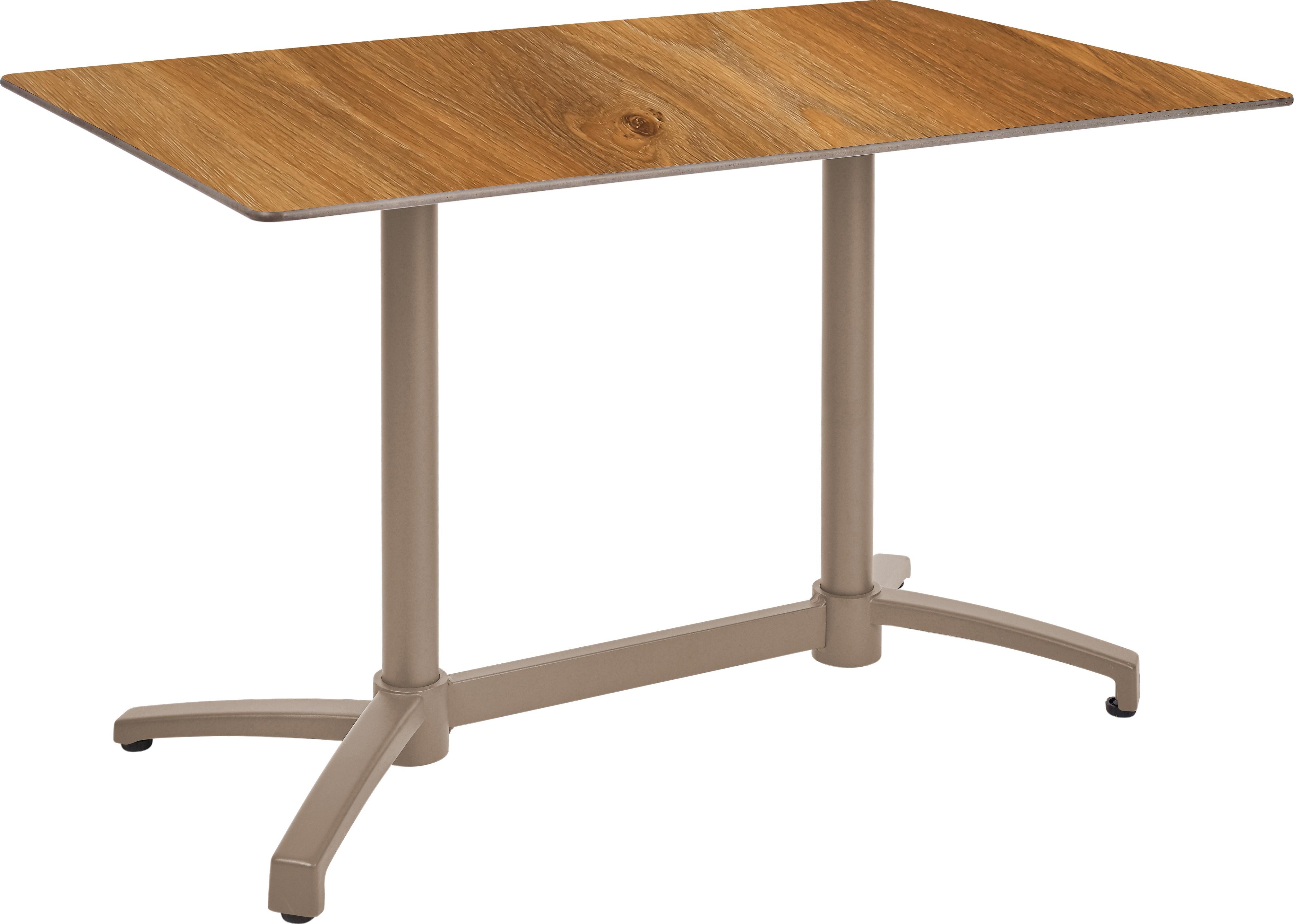 Mesa Ezpeleta abatible Taupe Marrones dark oak Aluminio lacado 120x80
