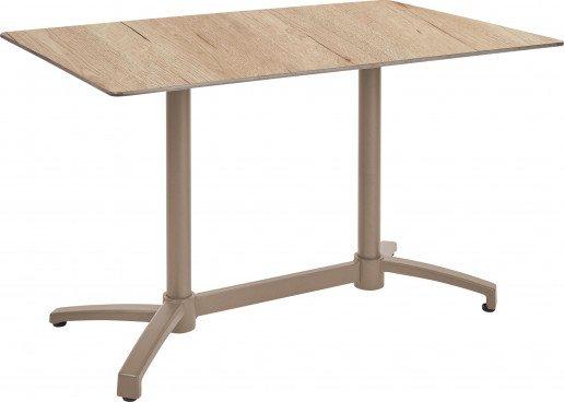 Mesa Ezpeleta abatible Taupe Marrones oak Aluminio lacado 120x80