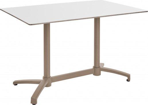 Mesa Ezpeleta abatible Taupe Marrones white Aluminio lacado 120x80