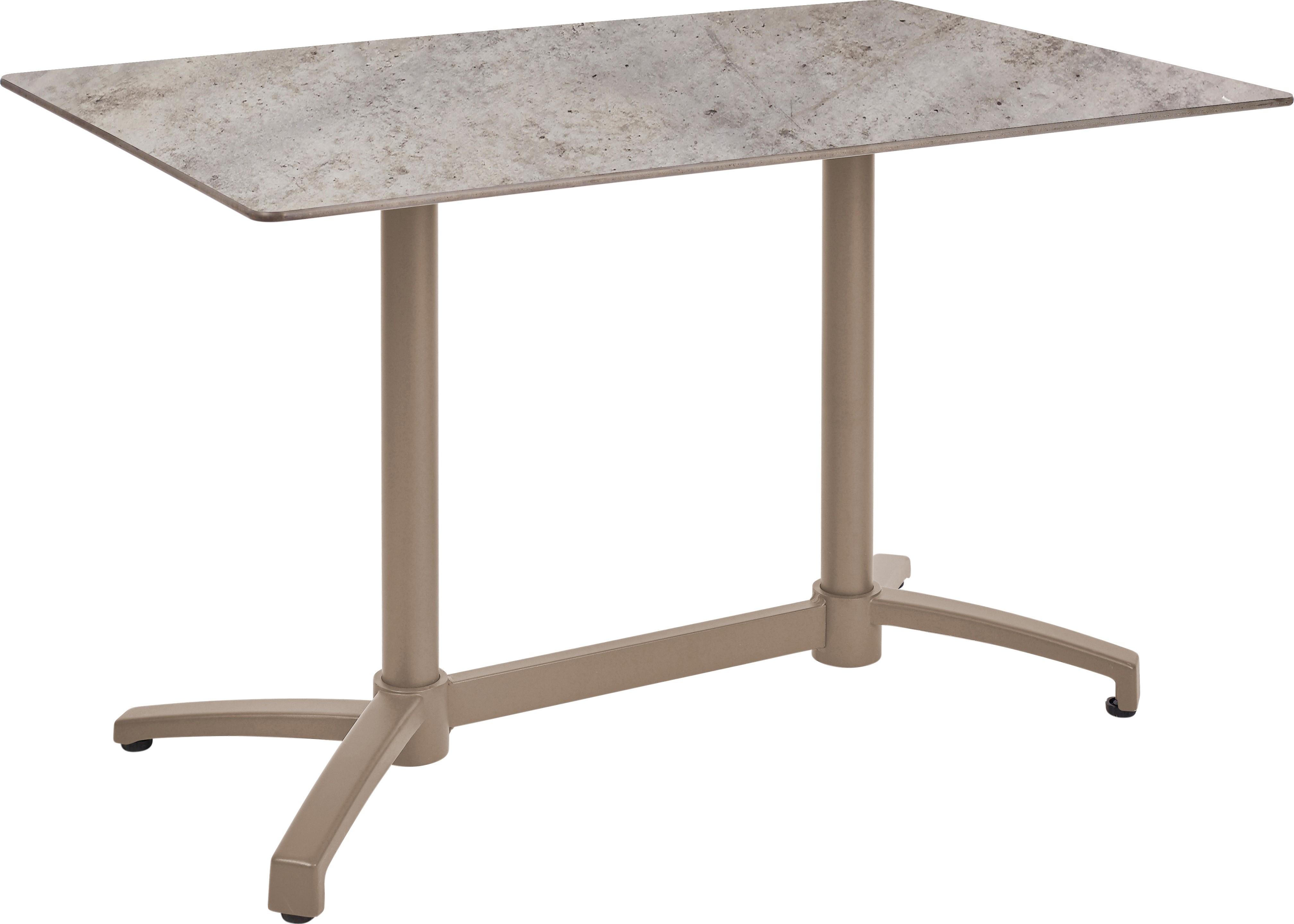 Mesa Ezpeleta abatible Taupe Marrones concrete Aluminio lacado 120x80