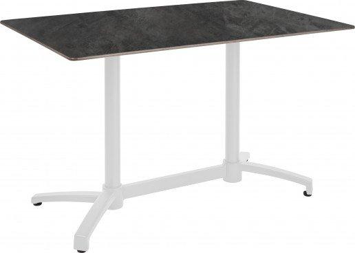 Mesa Ezpeleta abatible white Blancos Factory Aluminio lacado 110x70