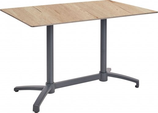Mesa Ezpeleta abatible anthracite Grises oak Aluminio lacado 110x70