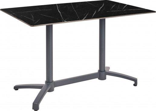 Mesa Ezpeleta abatible anthracite Grises black marble Aluminio lacado 110x70