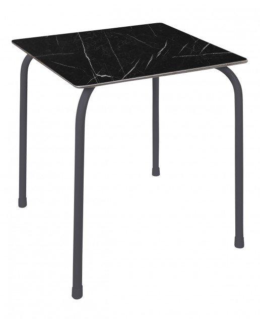 Mesa Ezpeleta apilable anthracite Grises black marble Acero lacado 70x70