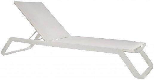 Lounge Ezpeleta Tumbona white  Blancos Aluminio lacado Textiline