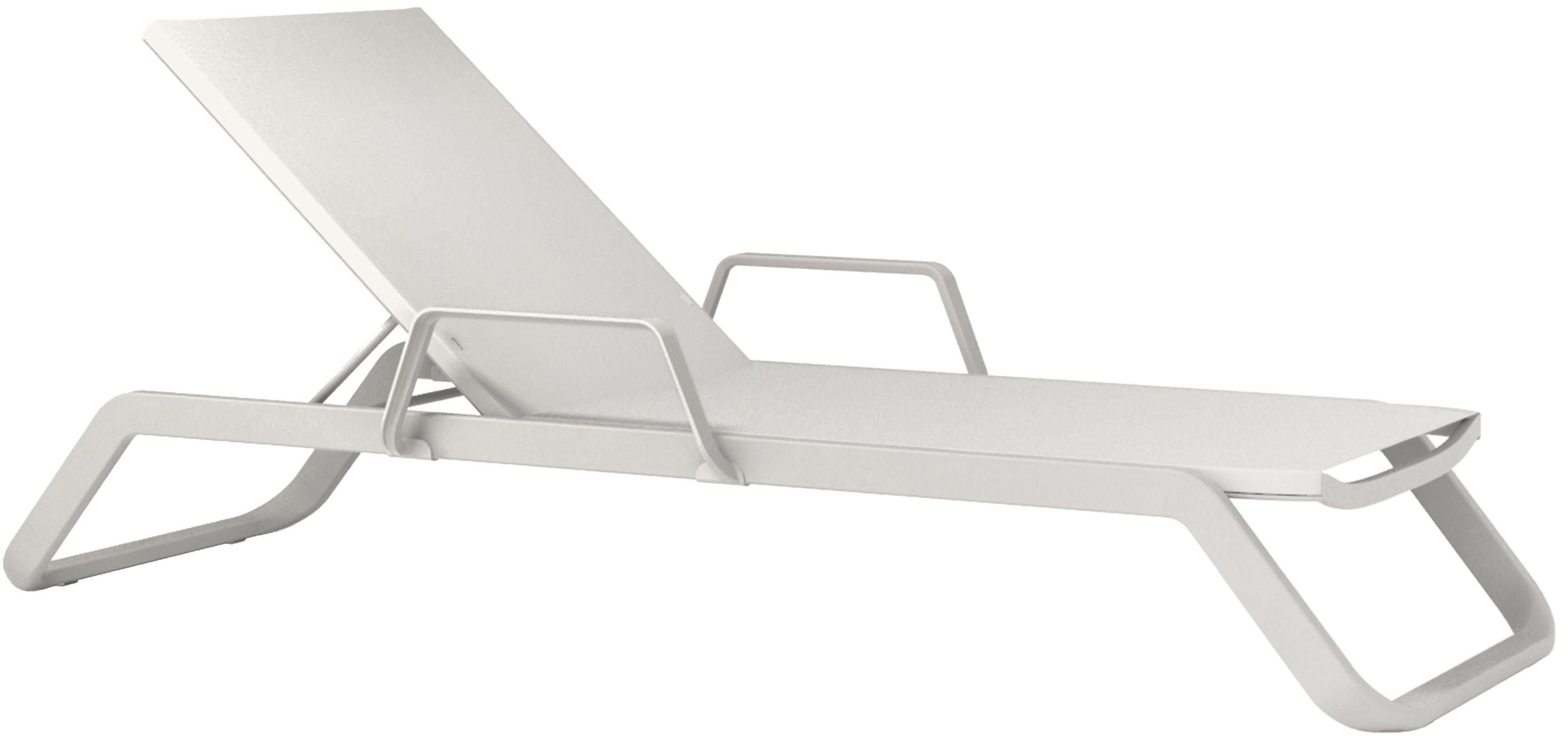 Lounge Ezpeleta Tumbona con brazos white  Blancos Aluminio lacado Textiline