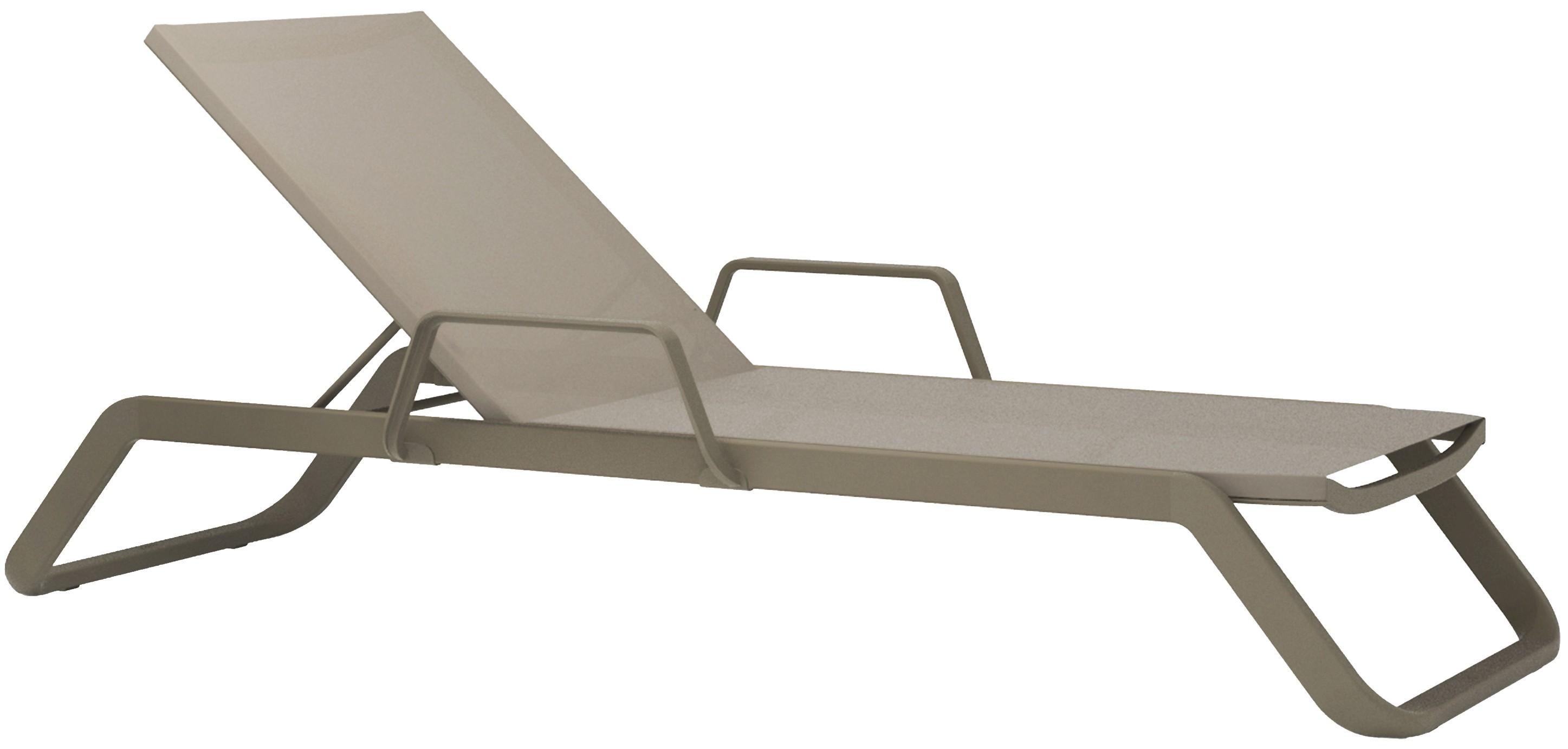 Lounge Ezpeleta Tumbona con brazos taupe  Marrones Aluminio lacado Textiline
