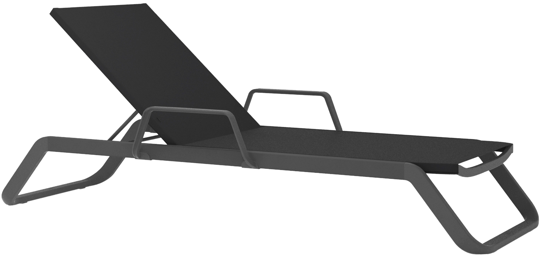 Lounge Ezpeleta Tumbona con brazos anthracite  Grises Aluminio lacado Textiline