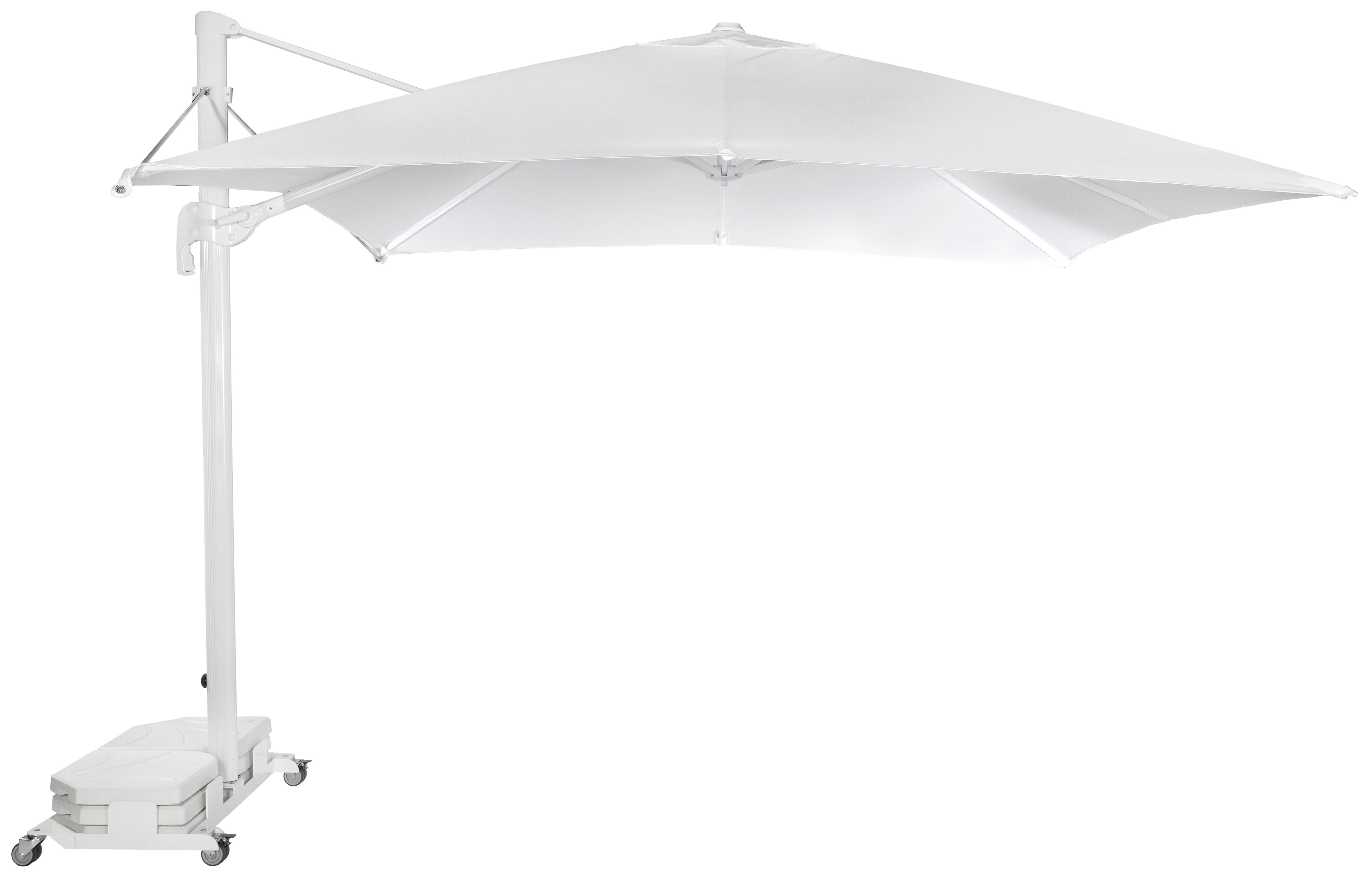 Parasol Ezpeleta Cuadrados White 2 Blancos white Olefin 3X3