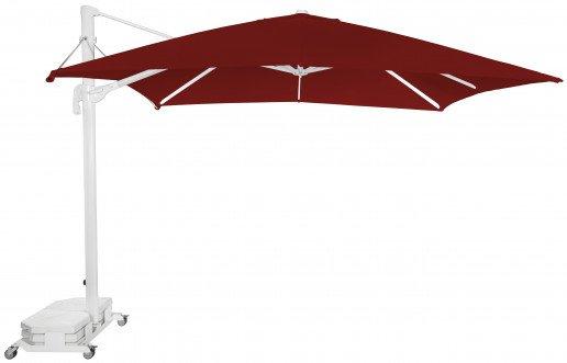 Parasol Ezpeleta Cuadrados White 2 Blancos burgundy Olefin 3X3
