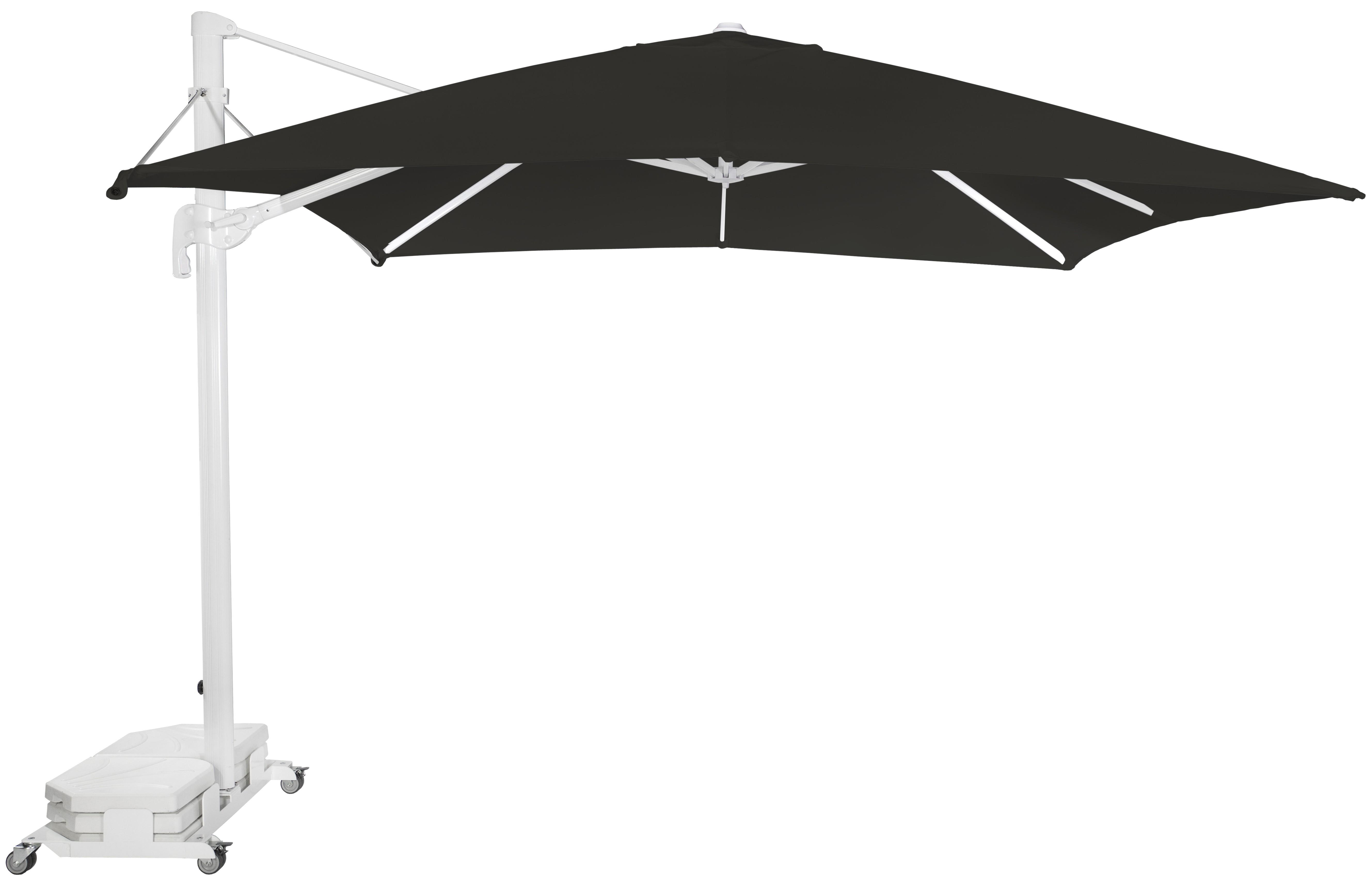 Parasol Ezpeleta Cuadrados White 2 Blancos black Olefin 3X3