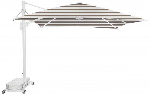Parasol Ezpeleta Cuadrados White 2 Blancos taupe stripe Olefin 3X3