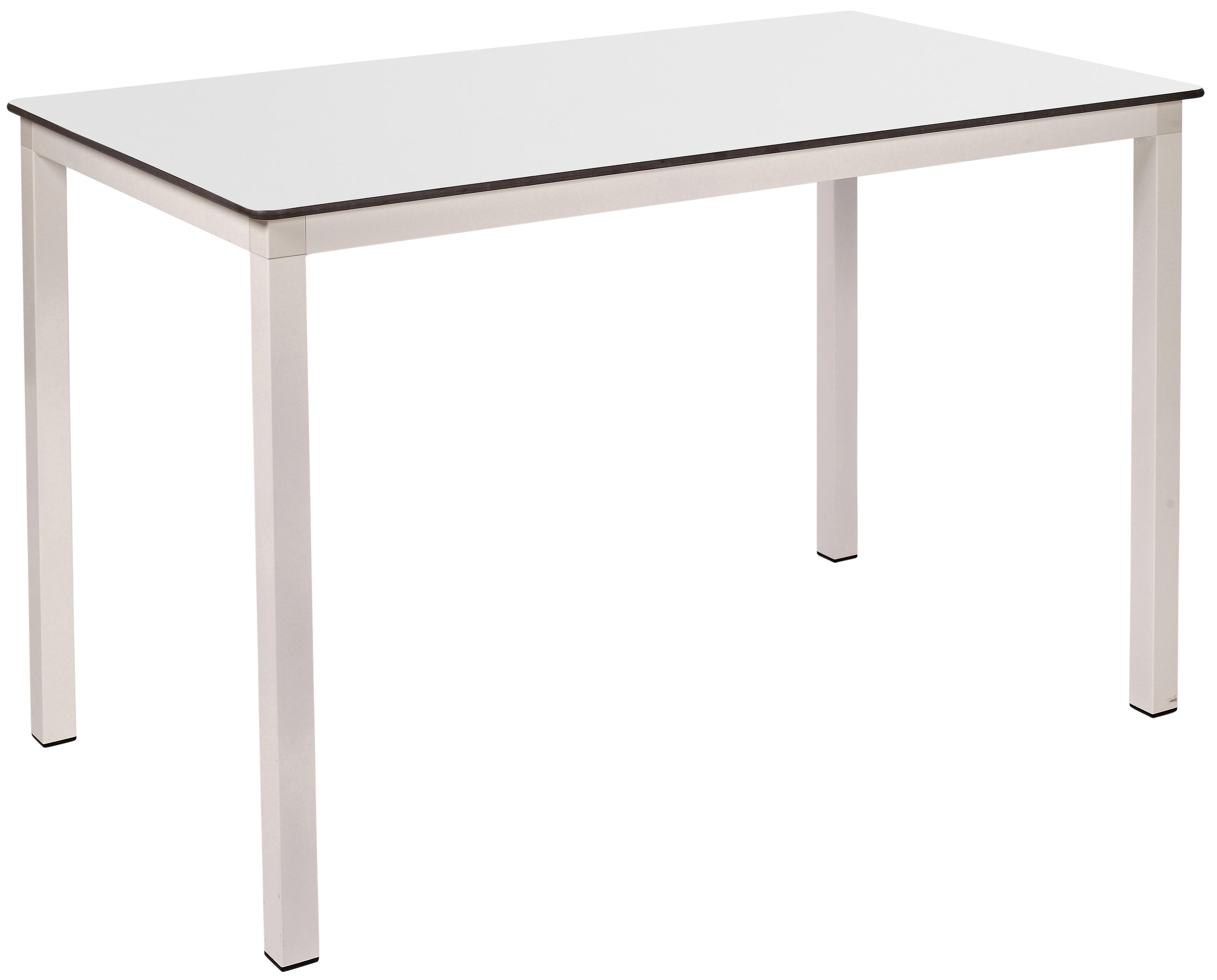 Mesa Ezpeleta apilable white Blancos white Aluminio lacado 120x80