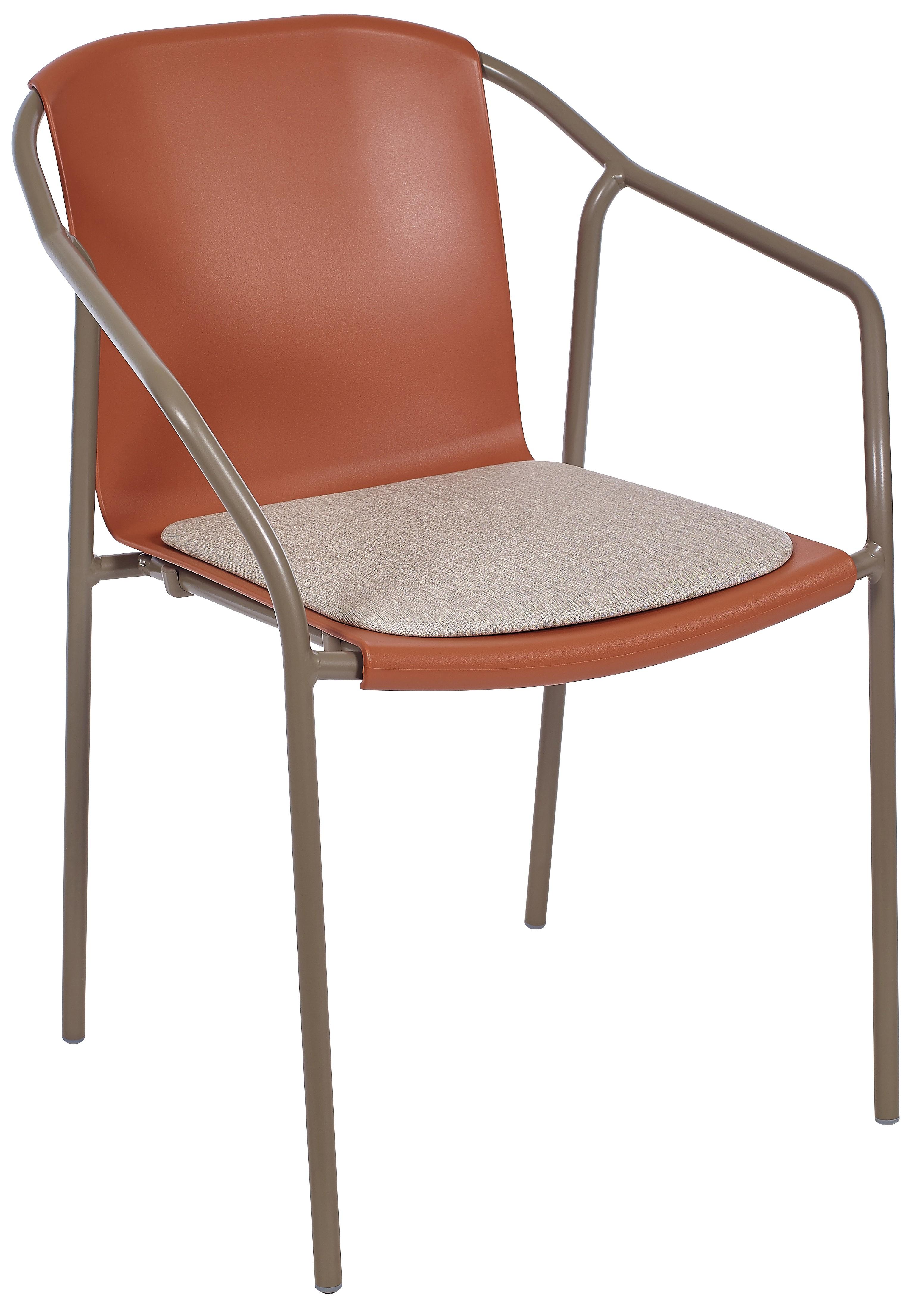 Silla Ezpeleta Con brazos Aluminio Tapizada taupe-terracota-padtaupe taupe