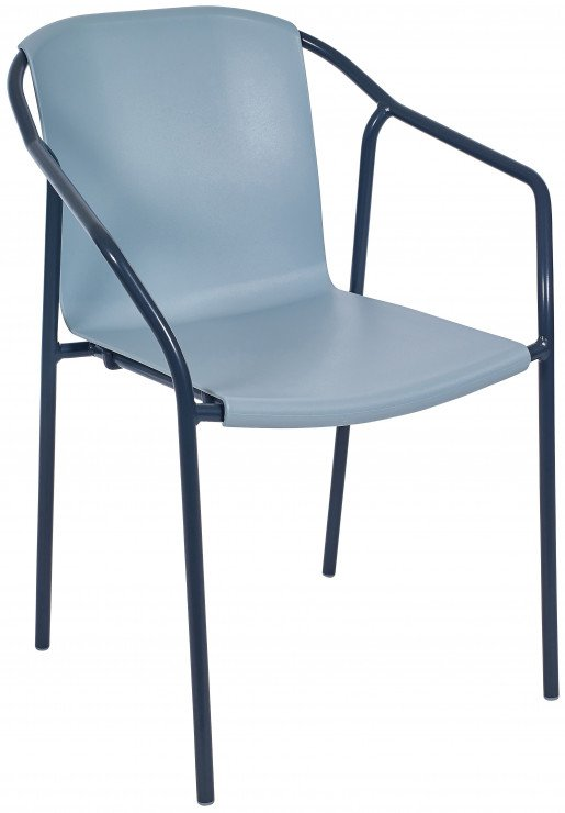 Silla Ezpeleta Con brazos Aluminio  anthracite-bluegrey