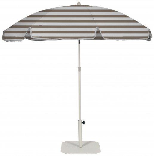 Parasol Ezpeleta Redondos Sand 1 Blancos taupe stripe Olefin 2