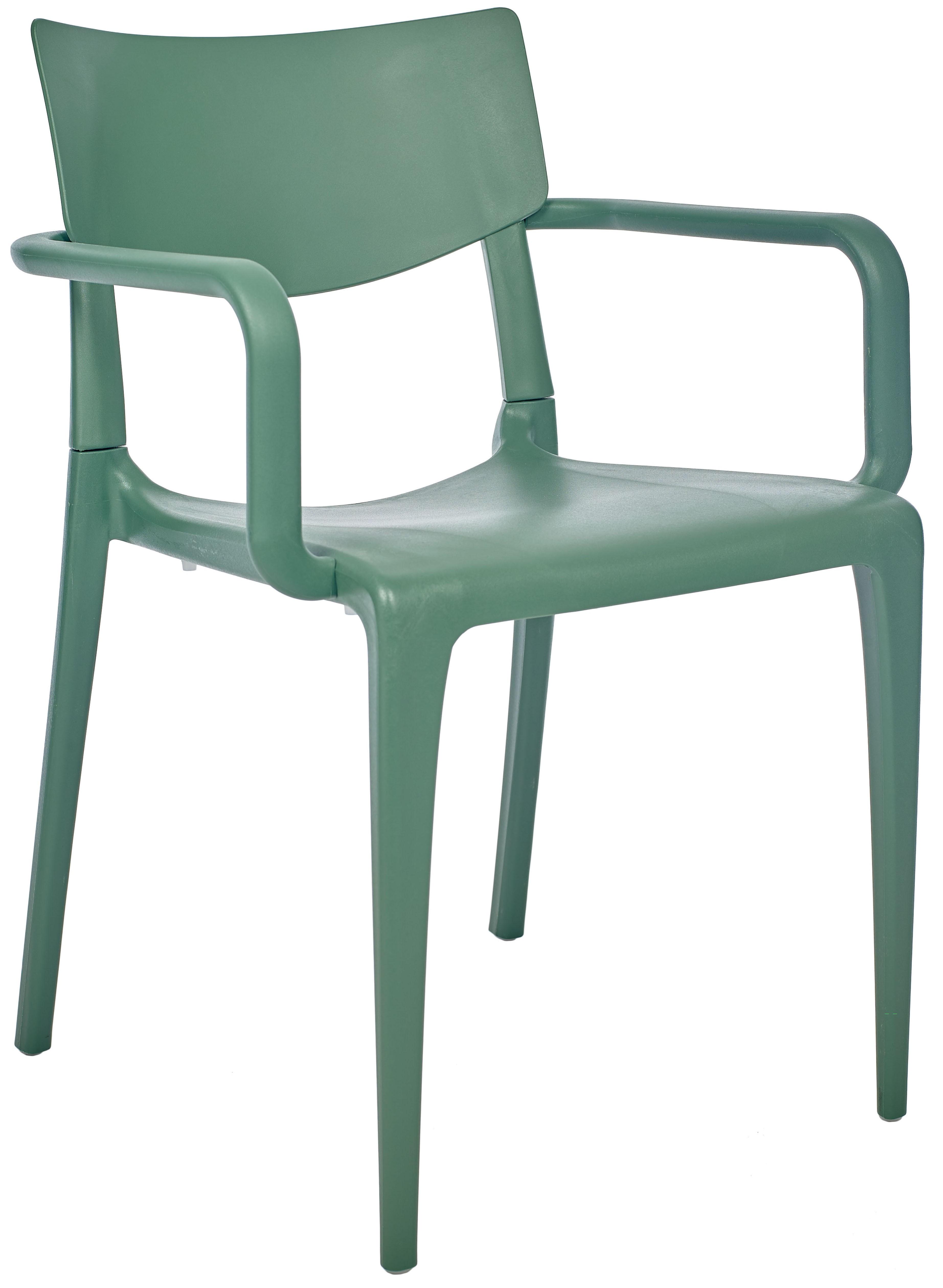 Silla Ezpeleta Con brazos Polipropileno  green