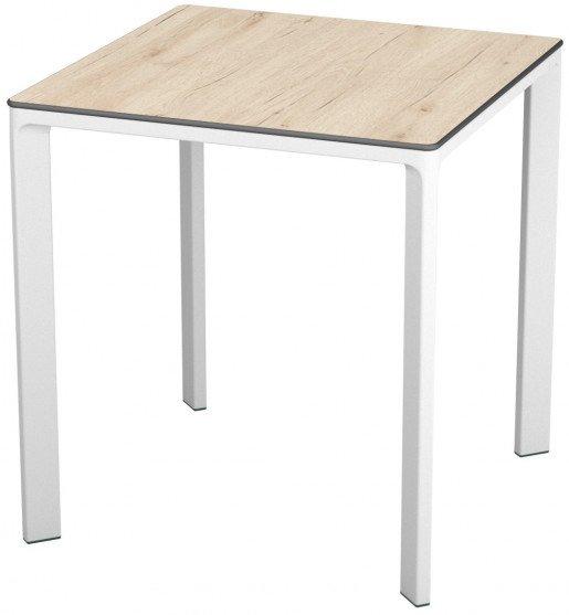Mesa Ezpeleta apilable White Blancos oak Aluminio lacado 70x70