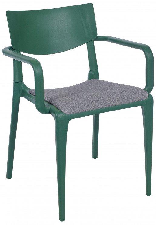 Silla Ezpeleta Con brazos Polipropileno Tapizada green-grey grey