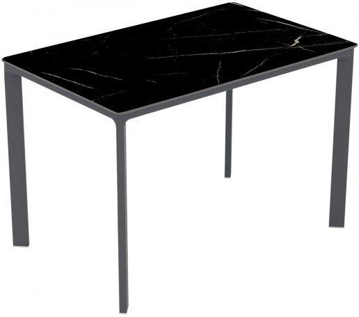 Mesa Ezpeleta  anthracite Grises black marble Aluminio lacado 120x80