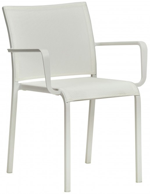 Silla Ezpeleta Con brazos Aluminio Textiline white