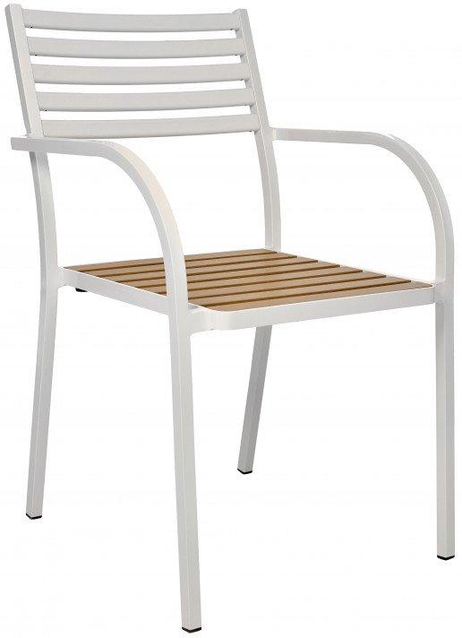 Silla Ezpeleta Con brazos Aluminio Ecowood white