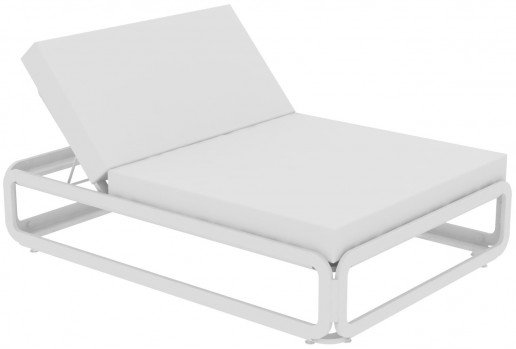 Lounge Ezpeleta Cama Balinesa white  Blancos Aluminio lacado Nautic