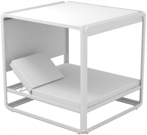 Lounge Ezpeleta Cama Balinesa white white Blancos Aluminio lacado Nautic