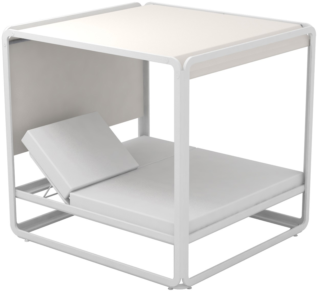Lounge Ezpeleta Cama Balinesa white sand Blancos Aluminio lacado Nautic