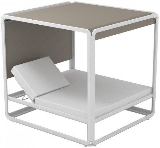 Lounge Ezpeleta Cama Balinesa white taupe Marrones Aluminio lacado Nautic