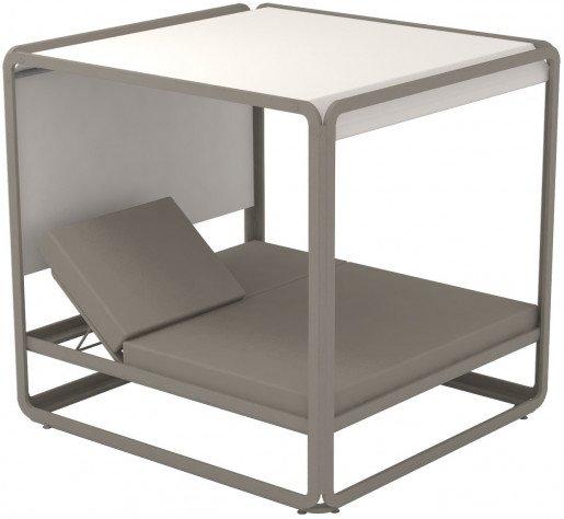 Lounge Ezpeleta Cama Balinesa taupe sand Blancos Aluminio lacado Nautic