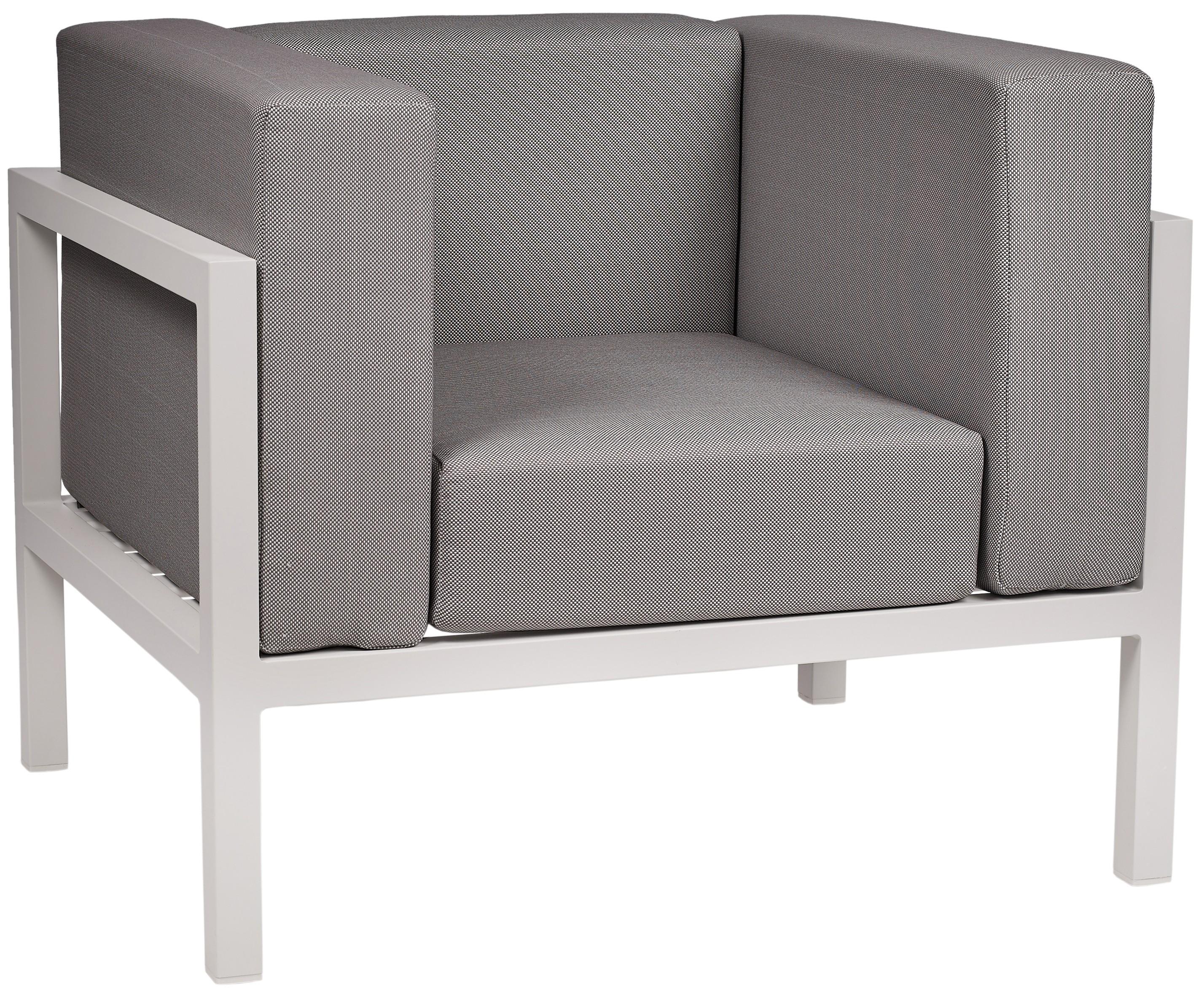 Lounge Ezpeleta Sofá individual white dark grey Blancos Aluminio lacado Textiline