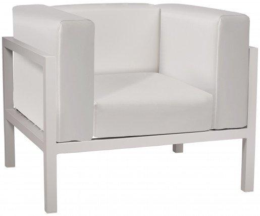 Lounge Ezpeleta Sofá individual white white Blancos Aluminio lacado Nautic