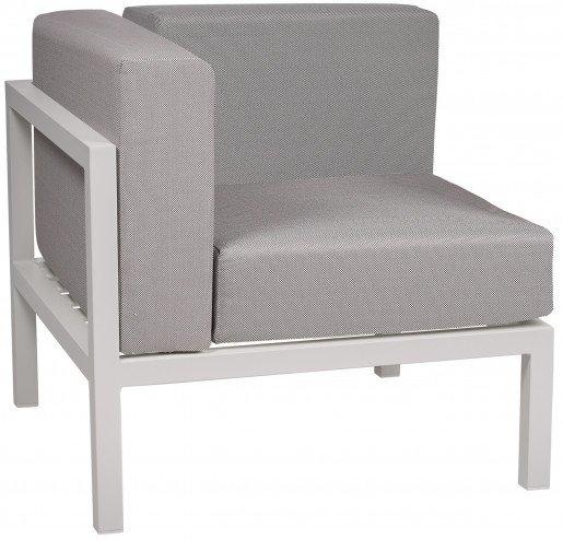 Lounge Ezpeleta Sofá esquinero white light grey Blancos Aluminio lacado Textiline