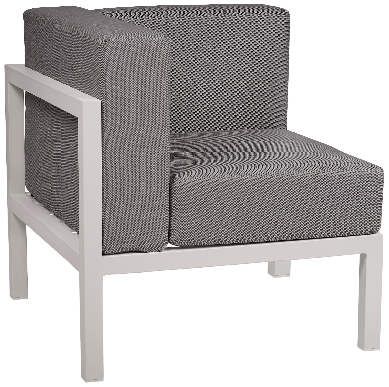 Lounge Ezpeleta Sofá esquinero white dark grey Blancos Aluminio lacado Textiline