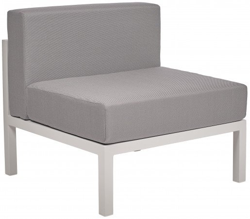 Lounge Ezpeleta Sofá intermedio white light grey Blancos Aluminio lacado Textiline