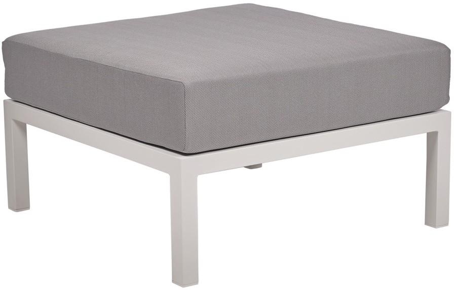 Lounge Ezpeleta Pouf white light grey Blancos Aluminio lacado Textiline