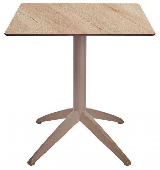 Mesa Ezpeleta abatible Taupe Marrones oak Polipropileno 70x70